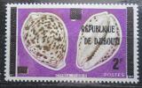 Poštovní známka Džibutsko 1977 Mušle přetisk Mi# 176