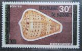 Poštovní známka Džibutsko 1977 Mušle přetisk Mi# 180 Kat 6.50€