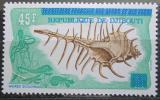Poštovní známka Džibutsko 1977 Mušle přetisk Mi# 182 Kat 8€