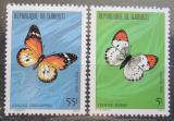Poštovní známky Džibutsko 1980 Motýli Mi# 268-69