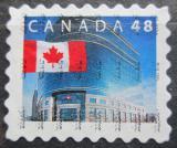 Poštovní známka Kanada 2002 Státní vlajka a hlavní pošta v Ottawě Mi# 2027