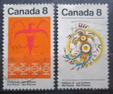 Poštovní známky Kanada 1972 Indiánské umění Mi# 511-12