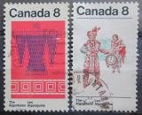 Poštovní známky Kanada 1973 Indiánské umění Mi# 545-46