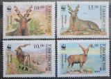 Poštovní známky Uzbekistán 1995 Kozorožec sibiřský, WWF Mi# 61-64 Kat 12€