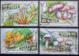 Poštovní známky Niger 2016 Houby Mi# 3972-75 Kat 13€