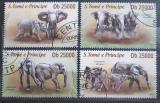 Poštovní známky Svatý Tomáš 2013 Sloni Mi# 5286-89 Kat 10€