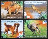 Poštovní známky Maledivy 2014 Psi Mi# 5410-13