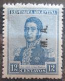 Poštovní známka Argentina 1922 Jose de San Martin přetisk SC# OD19