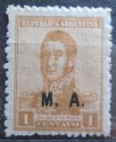Poštovní známka Argentina 1920 Jose de San Martin přetisk SC# OD16