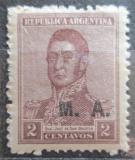 Poštovní známka Argentina 1920 Jose de San Martin přetisk SC# OD17