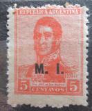 Poštovní známka Argentina 1918 Jose de San Martin přetisk SC# OD156