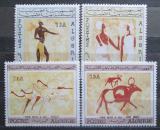 Poštovní známky Alžírsko 1966 Skalní malby Mi# 444-47 Kat 30€