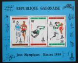 Poštovní známky Gabon 1980 LOH Moskva Mi# Block 39 Kat 8.50€