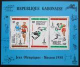 Poštovní známky Gabon 1980 LOH Moskva přetisk Mi# Block 40 Kat 8.50€