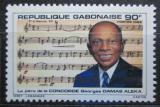 Poštovní známka Gabon 1985 Georges Damas Aleka, skladatel Mi# 934