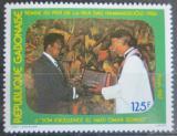 Poštovní známka Gabon 1987 Dag-Hammarskjöld a prezident Bongo Mi# 987