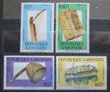 Poštovní známky Gabon 1988 Hudební nástroje Mi# 1005-08