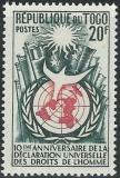 Poštovní známka Togo 1958 Lidská práva Mi# 246