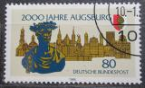 Poštovní známka Německo 1985 Augsburg, 2000. výročí Mi# 1234