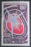 Poštovní známka Čad 1972 Měsíc srdce Mi# 509