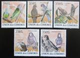 Poštovní známky Komory 2009 Papoušci Mi# 2387-91 Kat 9€