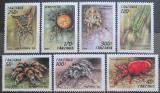 Poštovní známky Tanzánie 1994 Pavouci Mi# 1798-1804