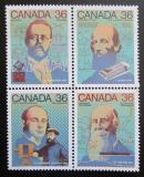 Poštovní známky Kanada 1987 Objevitelé Mi# 1048-51