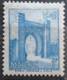 Poštovní známka Francouzské Maroko 1955 Městská brána Bab Mrisa Mi# 389