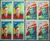 Poštovní známky SAR 1966 Kosmonauti čtyřbloky Mi# 120-21