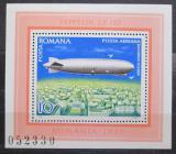 Poštovní známka Rumunsko 1978 Vzducholoď LZ-127 Mi# Block 148