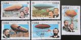 Poštovní známky Kuba 2000 Vzducholodě Mi# 4276-80