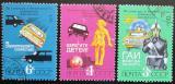 Poštovní známky SSSR 1979 Bezpečnost silničního provozu Mi# 4903-05