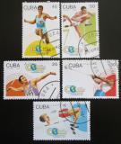 Poštovní známky Kuba 1992 SP v lehké atletice Mi# 3608-12