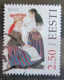 Poštovní známka Estonsko 1996 Lidové kroje Mi# 274