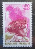 Poštovní známka Francie 1973 Gabrielle-Sidonie Colette, spisovatelka Mi# 1837