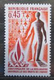 Poštovní známka Francie 1973 Deklarace lidských práv, 25. výročí Mi# 1861