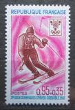 Poštovní známka Francie 1968 ZOH Grenoble, lyžování Mi# 1614