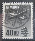 Poštovní známka Japonsko 1951 Letadlo a pagoda Mi# 554