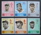 Poštovní známky Adžmán 1969 Baseballoví hráči Mi# 388-93