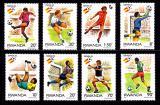 Poštovní známky Rwanda 1982 MS ve fotbale Mi# 1179-86 Kat 7.50€