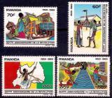 Poštovní známky Rwanda 1990 Revoluce, 30. výročí Mi# 1425-28 Kat 8.50€