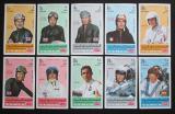 Poštovní známky Jemen 1969 Automobiloví závodníci neperf. Mi# 633-42 B Kat 15€