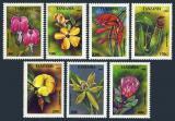 Poštovní známky Tanzánie 1994 Květiny Mi# 1880-86