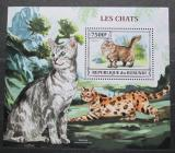 Poštovní známka Burundi 2013 Kočky Mi# Block 374 Kat 9€