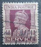 Poštovní známka Indie 1942 Král Jiří VI., služební Mi# 104