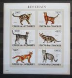 Poštovní známky Komory 2009 Kočky neperf., vzácné Mi# 2205-10 B