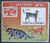 Poštovní známka Komory 2009 Kočky neperf. Mi# 2207 B Block