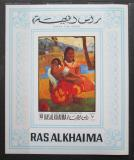 Poštovní známka Rás al-Chajma 1970 Umění, Paul Gauguin neperf. Mi# Block 82 B Kat 20€
