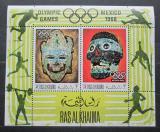 Poštovní známky Rás al-Chajma 1969 LOH Mexiko Mi# Block 76 A