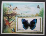 Poštovní známka Umm al-Kuvajn 1972 Motýli Mi# Block 50 Kat 7.50€
